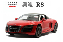 Red Kyosho 1:18 Car Model New Audi R8 Spyder Convertible Sport Car Super Sport Car Coupe Alloy Miniature Toys