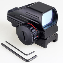VERY100 Holographic Projected Reflex Laser Red / Green 4 Reticle Dot Sight Scope for Hunting Hunter Shotgun