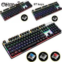 Cewaal USB Wired Gaming Illuminated Keyboard 87 Keys Colorful LED Backlit For PC Laptop