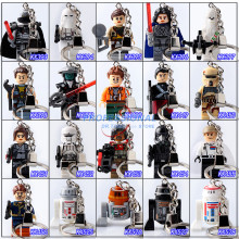 Star Wars Figures Building Blocks Bricks DIY Customize Keychains Handmade Keychain Toys Children Gifts - Professional 5A Peter's Minifigures Store store