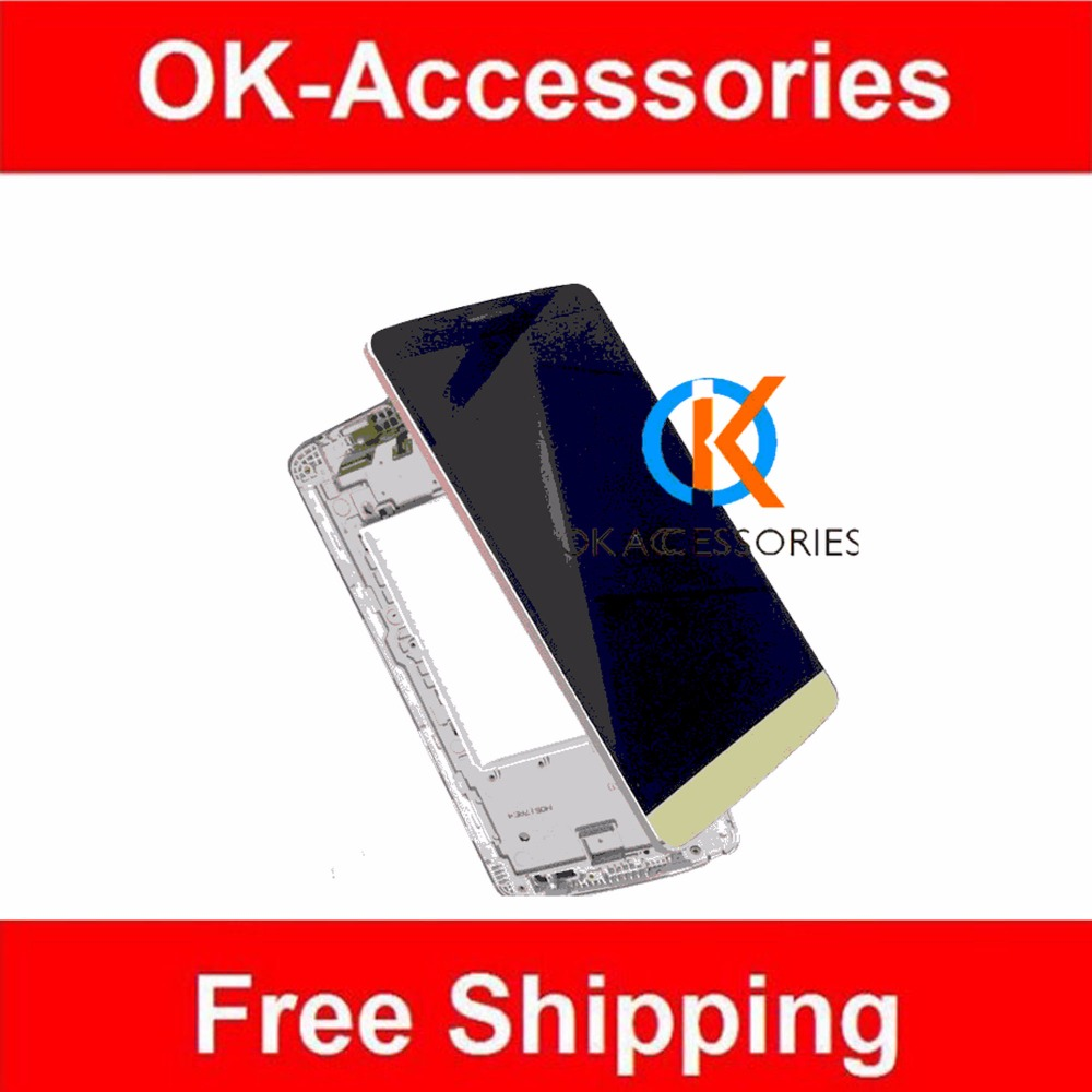 1PC /Lot  For LG G3 Stylus D690 LCD Display+Touch Screen Digitizer+Frame+Free Tools Black Color <br><br>Aliexpress
