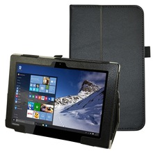 "Folio Stand New Custer PU Leather Smart  Cover Case For 10.1"" Toshiba Satellite Click 10 LX0W Tablet 2015"