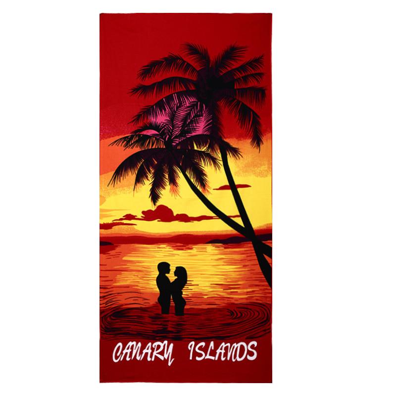 Micro Fiber Printed Beach Towel 140*70cm 25