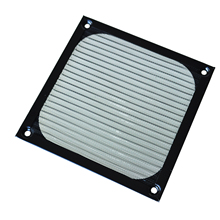 GTFS-12cm x 12cm PC Cooler Fan Aluminum Dustproof Meshy Filter Black