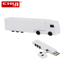 CHYI Creative Car USB Flash Drive Pen Drive White Big Truck Custom Memory Stick 4GB 8GB 16GB 32GB 64GB Pendrive New Arrival