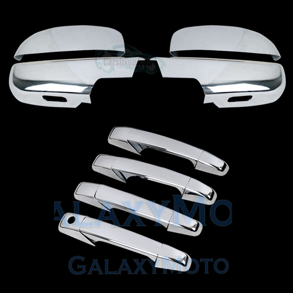 00-06 Chevy Tahoe+Suburban Triple Chrome 4 Door Handle+W//O PSG KH+Gas Cover Kit