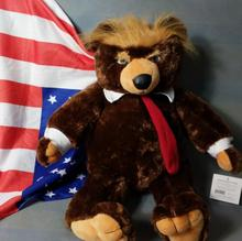 Buy Toy Dream 60cm Donald Trump Bear Plush Toys Cool USA President Bear Flag Cloak Collection Doll Gift Kids LH0002 for $25.68 in AliExpress store