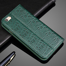 Genuine leather cover for iphone 6 6s real natural cow skin flip case for iphone6 6s plus free shipping fashion design discount