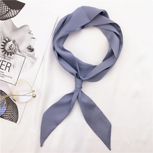 Women Spring Fashion Summer Neck Long Silk Scarf Infinity Thin Skinny Scarves(China)