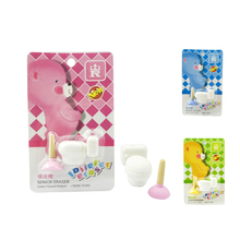 Cute Funny Toilet Plunger Pencil Rubber Erasers Creative Eraser Silgi For Kids Birthday Gifts Gomas Stationery Material Escolar(China)