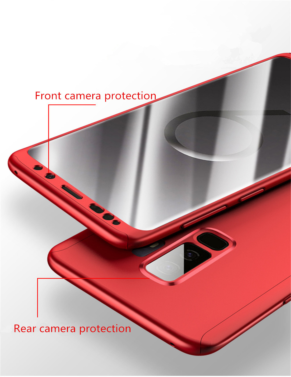360 Degree Protection Case For Samsung Galaxy Note 3 4 5 Hard Cases For Galaxy A3 A5 A7 2017 A8 A8+ A6 A710 With Tempered Glass