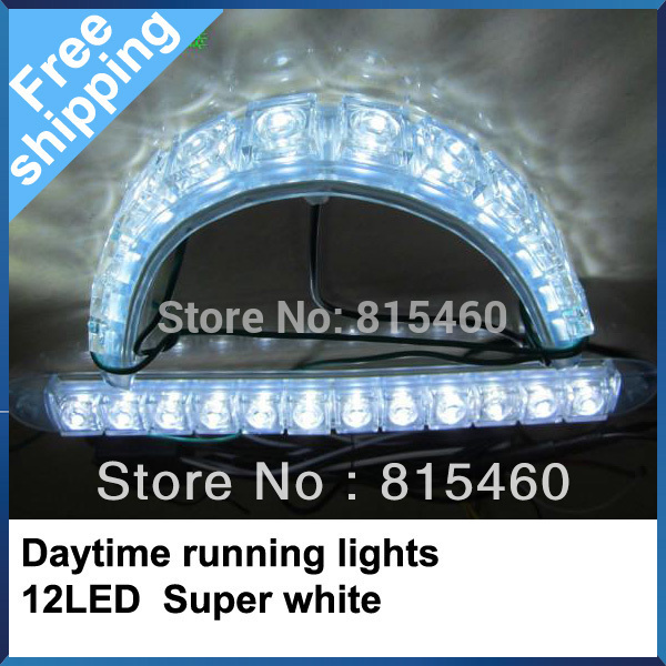 Free shipping Super White 12 LED Universal Car Light Daytime Running light auto lamp DRL New 2PCS front fog lamps<br><br>Aliexpress