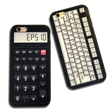 Retro Creative Calculator keyboard Phone cases For iphone 7 Silicone Back cover For Apple iPhone 6 6S 7 Plus cases Accessories