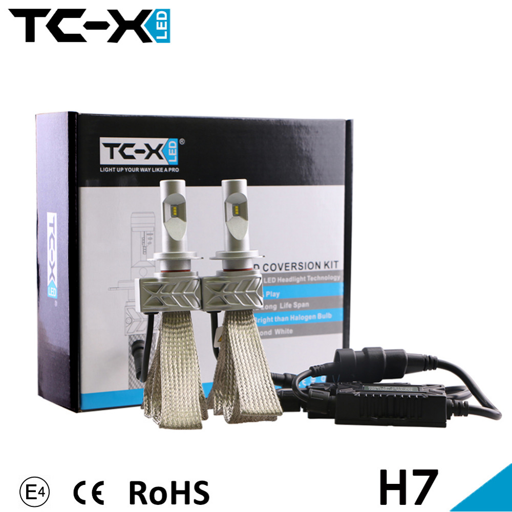 TC-X H7 Car Styling LED Headlight Conversion Kit  6000LM Car  Driving Lamp Bulbs Car External Lights LED Engery Saving HeadLight<br><br>Aliexpress