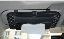 QP045 auto supplies car sun visor CD holder bag 16 CD/DVD storage for CD DVD plate case clamp with paper tissue box
