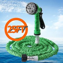 7 in 1 Spray Gun 25FT Expandable Garden Hose Latex Tube Magic Flexible Hose For  Car  Garden Plastic Hoses Blue Green Orange