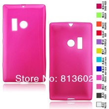 Free shipping DHL ,For Nokia Lumia 505 New Hotpink Soft Gel TPU Resin Skin Back Cover Case ,500pcs/lot