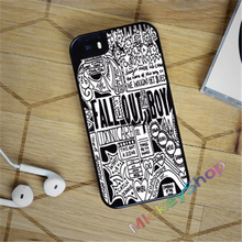 FALL OUT BOY LYRICS fashion case cover cover for iphone 4 4s 5 5s SE 5c for 6 & 6 plus 6S & 6S plus 7 7 plus #CD150