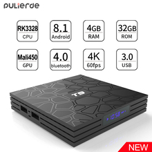 PULIERDE T9 4 ГБ 32 ГБ RK3328 4 ядра Android 8,1 ТВ коробка Bluetooth4.0 H2.65 4 К Smart ТВ 2,4 ГГц WI-FI телеприставки Media Player(China)