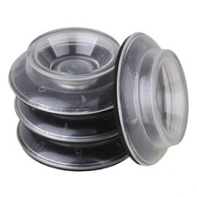 Yibuy 4 Pieces Single Wheel Plastic Piano Caster Cups Pads for Upright Grand Piano
