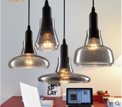America Style Modern Pendant Light With Glass Lampshade For Dinning Room Bar Balcony Handlamp Lamparas De Techo<br>
