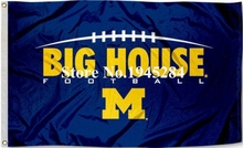 University of Michigan Big House Flag Banner New 3x5FT 90x150CM Polyester NCAA 9262, free shipping
