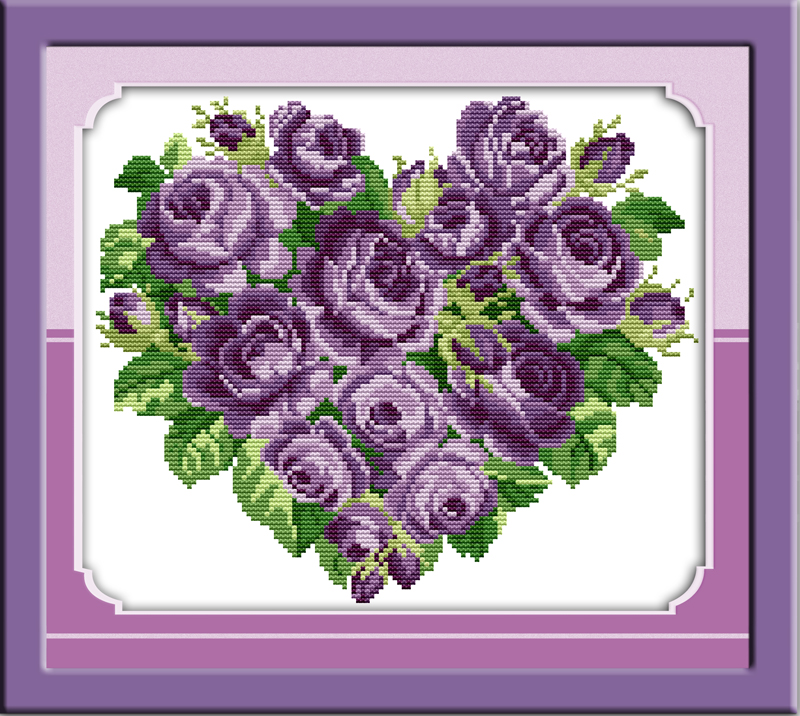 Electronic Components & Supplies Beautiful Rose Piano Cross Stitch Kit Flower Cartoon Counted Stamped Fabric 14ct 11ct Hand Embroidery Diy Handmade Needlework Supply