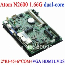 Atom N2600 3.5-inch embedded motherboard 3.5 watt low power industrial motherboard with dual nic RJ45 Fanless 6COM HDMI VGA