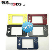 Replacement Hinge Part Black Bottom Middle Shell/Housing Case C Face Middle Frame Case for 2015 Nintendo New 3DS XL