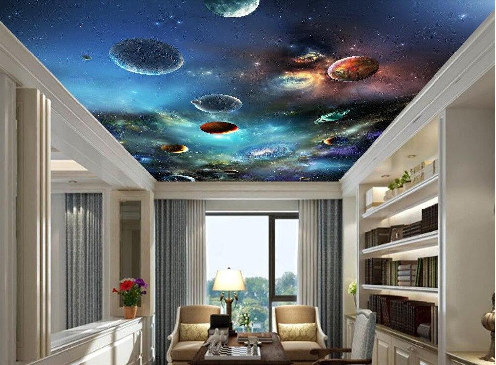 Wallpaper Custom Photo Non Woven Mural The Sky Solar System ...