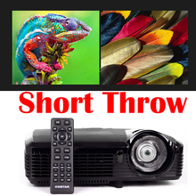 Ultra Short Throw Video Projector hd 3D 1080P HDMI VGA Mini Portable DLP Projector Home Cinema 7500 Lumen 150 inch Free TV Stick