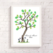 Crooked Tree Small Flower Canvas Guest Finger Graffiti Attendance Signature Book Party Baby Shower Customized Art Paper Souvenir(China)