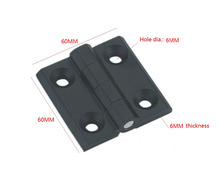 5PCS BLACK 6mm Mount Hole Zinc alloy die-casting hinge Closet Cabinet Door Butt Hinge 60mm x 60mm Bearing Hinge