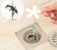 Useful Bathtub Shower Chain Cleaner Hair Home Bathroom Sewer Filter Drain Outlet Sink filter Clog Remover(China)