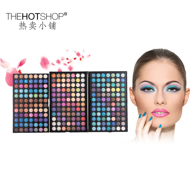252 colors professional matte metallic eyeshadow pallete glitter shade and light Makeup beauty eye shadow lip gloss set &amp; tools <br>