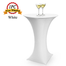 Free Shipping 1PC Polyester Spandex Lycra Dry Bar Cover Cocktail Table Cover Tablecloth of Wedding Party Event Hotel Decoration(China)