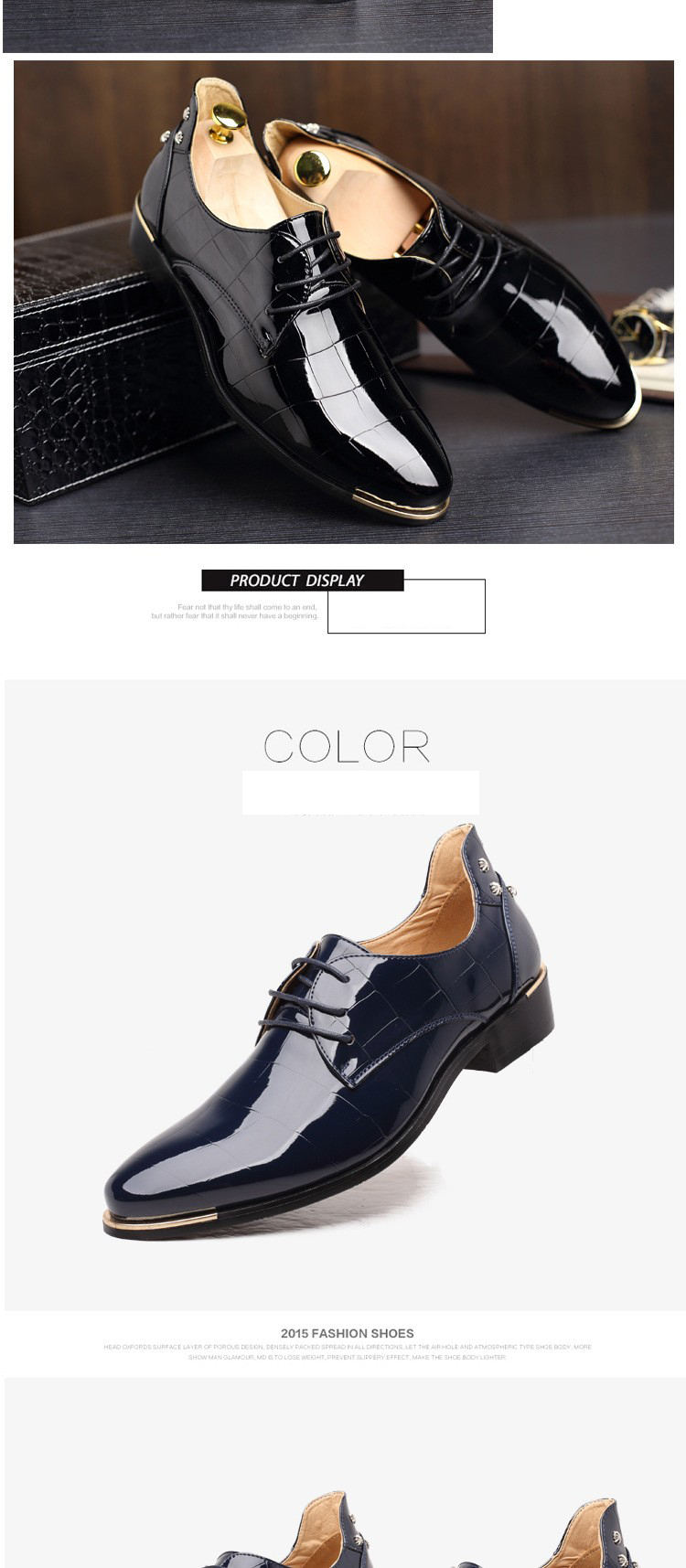 Men shoes 16 new fashion PU leather casual men shoes 8