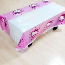 108cm*180cm Hello Kittty Party Supplies Tablecloth For Kids Girls Favor Party Supplies Birthday Festival Decoration