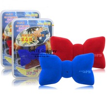 Fashion Anime Detective Conan Cosplay Props Voice changer Bow tie variable sound Neckwear for Children Gift Blue / Red(China)