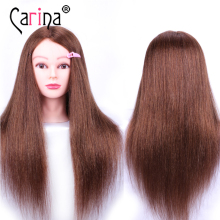 Training Head Professional 55cm Mannequin Head Hairdressing Dolls Head Female Mannequin Hairdressing Styling Nice Head Hair(China)