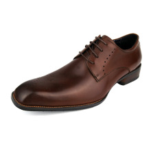 2017 New Italian Designer Oxford Vintage Dress Shoes Brand Genuine Leather Lace-Up Men Shoes Casual Business Wedding Shoes(China)