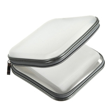Hot Selling New 40 CD DVD Disc Storage Carry Case Cover Holder Bag Hard Box - White