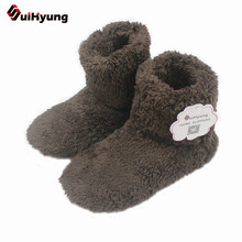 New Winter Warm Cotton-padded Shoes Skid Soft Bottom Indoor Home Shoes Warm Plush Indoor Boots For Men And Women Floors Shoes(China)