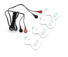 New 4 Pcs/Lot Stimulate Electrical Shock Therapy Gel Pads Electro Shock Body Massage Paste Pads With Cable Medical Sex Toys(China)