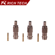 5pcs BNC jack connector straight BNC female jack adapter BNC RG58 RG59 RG6 converter RF Coax Adapter
