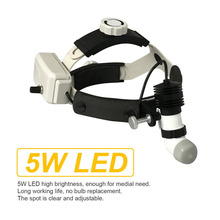 5W LED Surgical Headlight High Power Medical Headlight Dental Head Lamp +Adapter Head Mounted Medical Light Remote Control