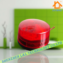 12V Security Alarm Strobe Signal Warning Light Siren LED Lamp Flashing Light