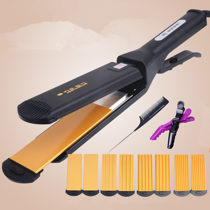 100-240V Electric Hair Curler Ceramic Styling Professional Hair Curling Iron Hair Waver Straightener Including 4 Curling Iron<br>