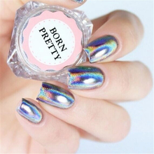 0.5g/Box Holographic Laser Rainbow Powder Nail Chrome Pigment Glitter Powder Manicure Nail Art Glitter Decoration