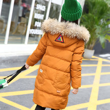 Fashion Girls Winter Coat Long Down Jacket For Girl Long Parkas 6 7 8 9 10 12 13 14 Children Zipper Outerwear Winter Jackets